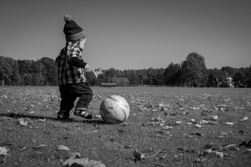 childhood, autumn, leaves, play